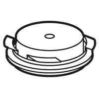 Couvercle de pose pour boîte Batibox béton 895 53/55 - avec réducteur