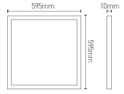 Dalle LED 36W 4000K 3000lm 600x600 (169366)
