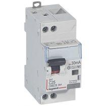 Disjoncteur diff DX³ 4500 -vis/vis- U+N 230V~ 25A- typeHpi- 30mA- 6kA -courbe C - 2M (410755)