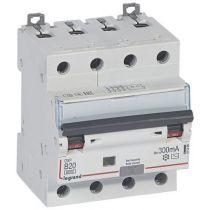 Disjoncteur diff DX³ 6000 -vis- 4P 400V~ -20 A - type AC 300mA -10kA- courbe B - 4M (411360)
