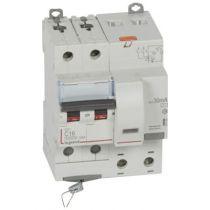 Disjoncteur diff DX³ 6000 -vis-2P-230/400V~-16A -typeAC -30mA-10kA- courbe C - 4 mod (411158)