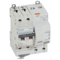 Disjoncteur diff DX³ 6000 -vis-2P-230/400V~-20A -typeAC -300mA-10kA- courbe C - 4 mod (411173)