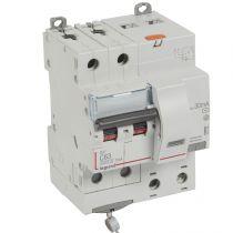 Disjoncteur diff DX³ 6000 -vis-2P-230/400V~-63A -typeAC -10mA-10kA- courbe C - 4 mod (411164)