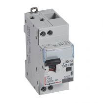 Disjoncteur diff DX³ 6000 -vis/vis-U+N 230V~- 10A - type Hpi 30 mA-10 kA courbe C - 2M (410854)