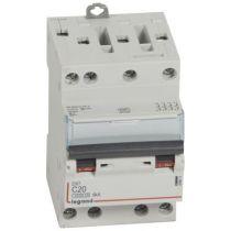 Disjoncteur DX³ 4500 - vis/vis - 4P - 400 V~ - 20A - 6kA - courbe C - 3M (406911)