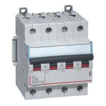 Disjoncteur DX³ 6000 -vis/vis- 4P- 400V~-10A-10kA-courbeC-peigne HX³ trad 4P - 4M (407896)