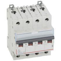Disjoncteur DX³ 6000 -vis/vis- 4P- 400V~-4A-10kA-courbeC-peigne HX³ trad 4P - 4M (407893)