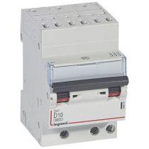 Disjoncteur DX³ 6000-auto/vis-3P-400V -10A-10kA-courbe D-peigne HX³ opti 4P - 3M (408074)