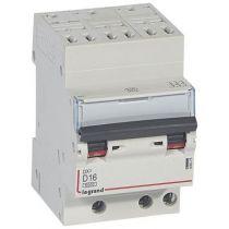 Disjoncteur DX³ 6000-auto/vis-3P-400V -16A-10kA-courbe D-peigne HX³ opti 4P - 3M (408075)