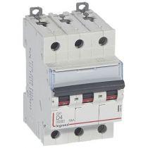 Disjoncteur DX³ 6000-vis/vis-3P-400V~-4A-10kA-courbe D-peigne HX³ trad 3P-3M (408056)