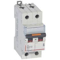 Disjoncteur DX³ MA-vis/vis-2P-230/400V~-10A-25kA-magnétique seul - 2M (409870)