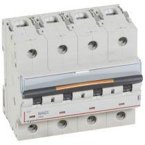Disjoncteur DX³ MA-vis/vis-4P-400V~-63A-25kA-magnétique seul - 6M (409895)