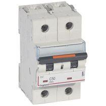 Disjoncteur DX³-vis/vis-2P-230/400V~-50A-25kA-courbe C - 3M (409773)