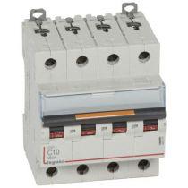 Disjoncteur DX³-vis/vis-4P-400V~-10A-25kA-courbe C - 4M (409793)