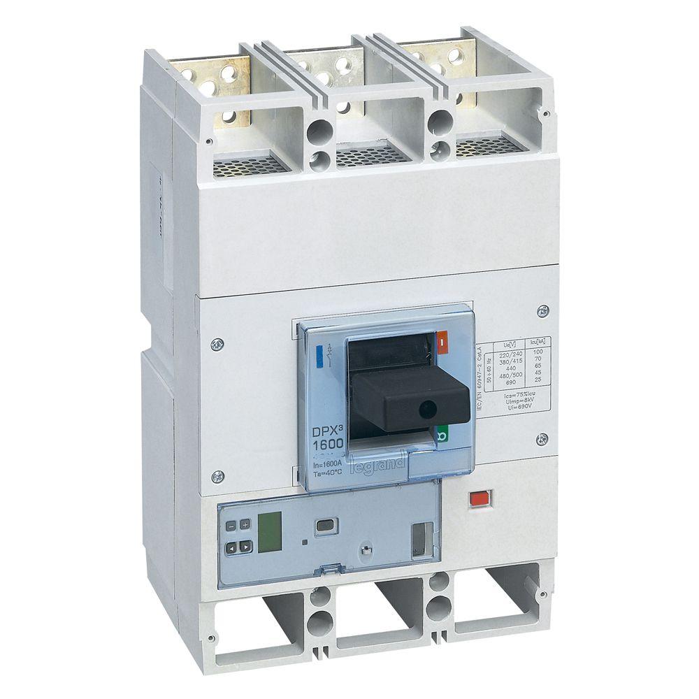 Disjoncteur électronique Sg DPX³ 1600 - Icu 50 kA - 3P - 1600 A (422411)