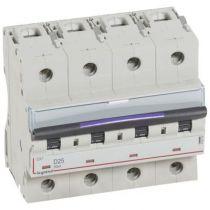 Disjoncteur magnéto-therm DX³ - 4P - 25 A - 50 kA - courbe D - 6M (410228)