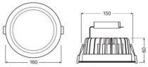 Downlight LED 14W/3000K 1310lm IP20 (000001)