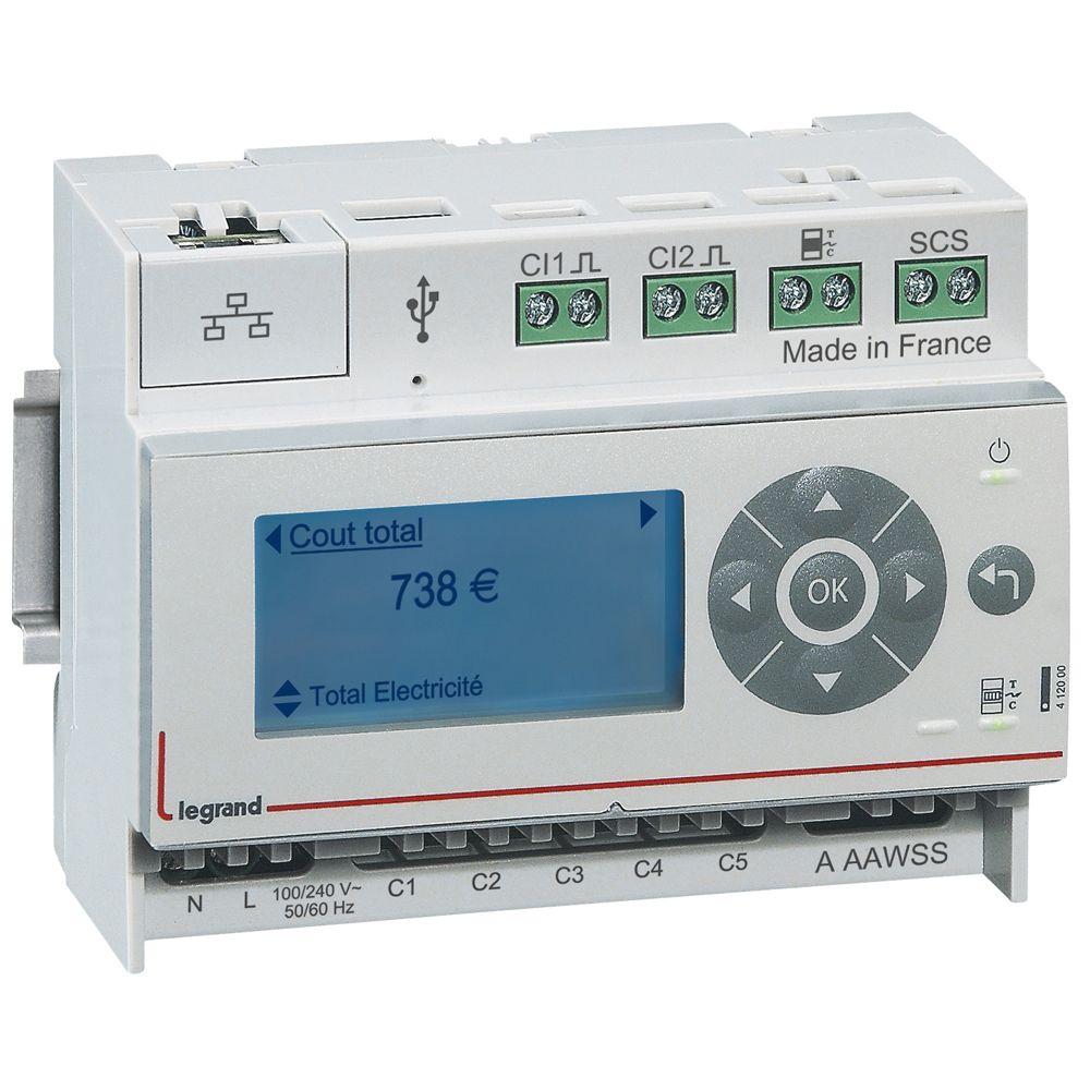Ecocompteur - 110-230 V~ - 6 modules (412000)