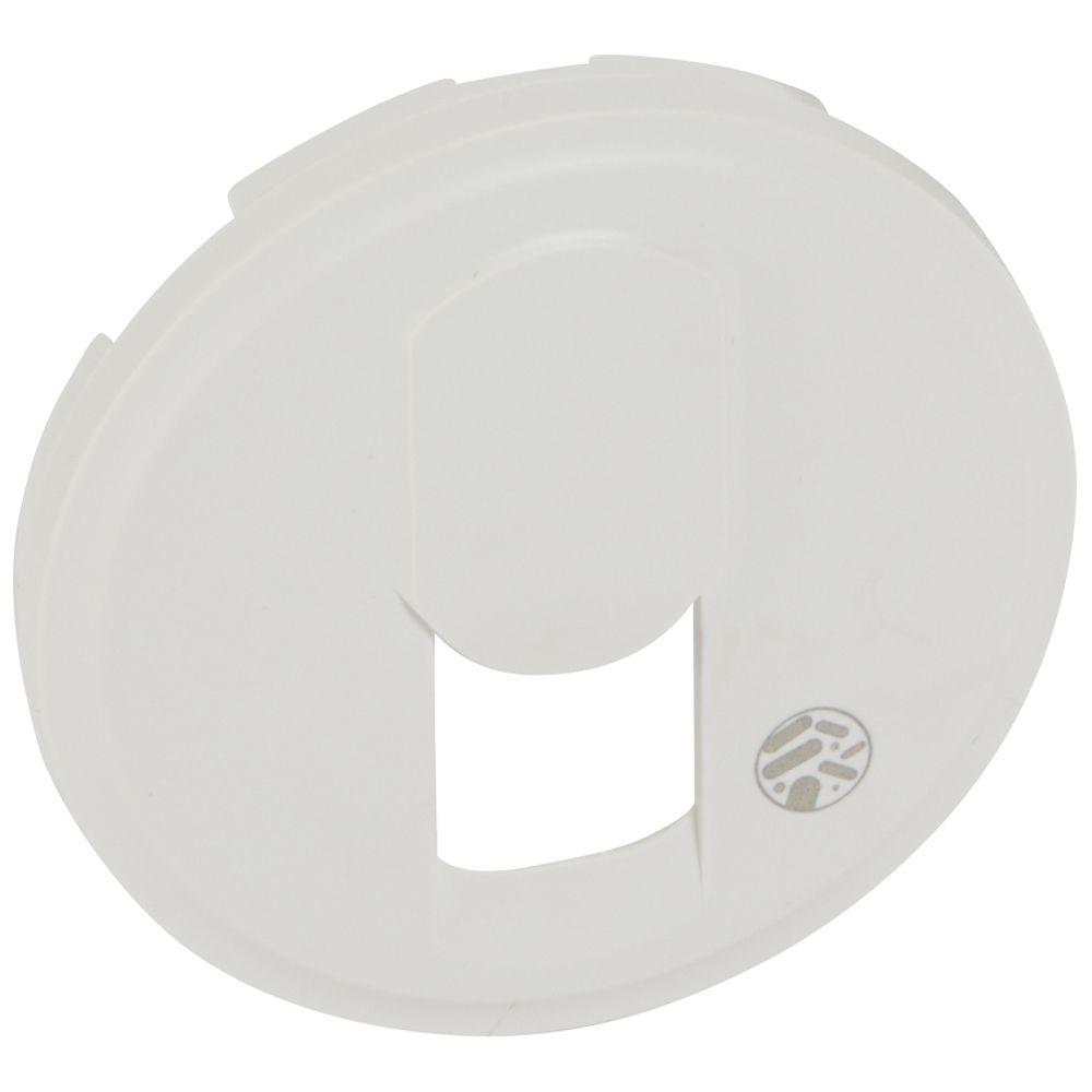 Enjoliveur antimicrobien Céliane - prise téléphone réseau mixte/basique - blanc