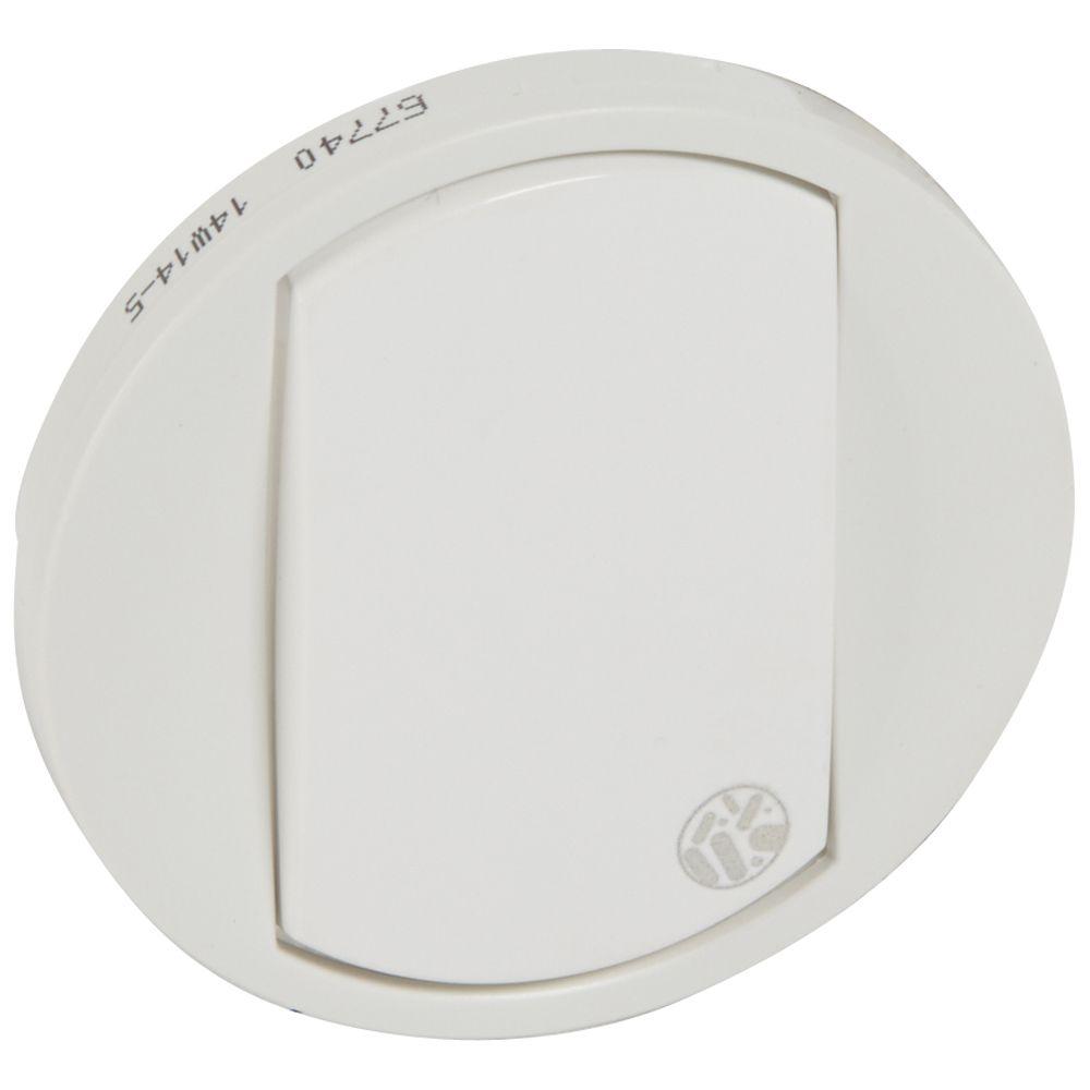 Enjoliveur antimicrobien Céliane - VV / poussoir - blanc
