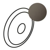 Enjoliveur Céliane - commande effleurement - graphite