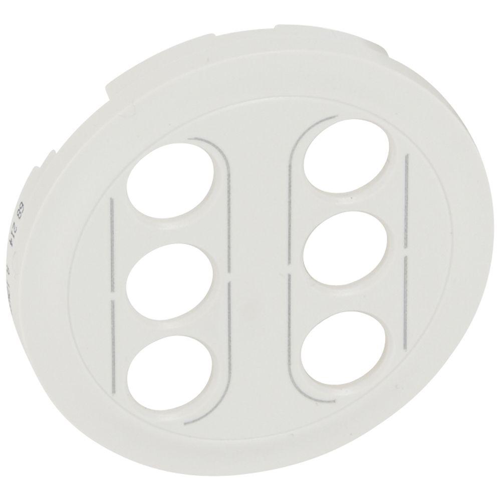 Enjoliveur Céliane - double prises RCA - blanc