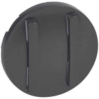 Enjoliveur Céliane - double VV/poussoir - doigt étroit graphite