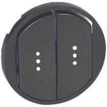 Enjoliveur Céliane - double VV/poussoir à voyant - doigt large graphite