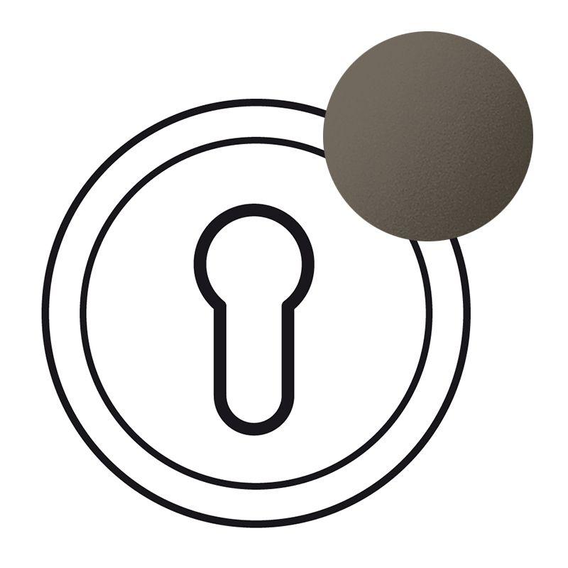 Enjoliveur Céliane - poussoir à clé 3 positions - graphite