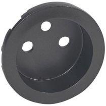 Enjoliveur Céliane - prise 2P+T standard - graphite