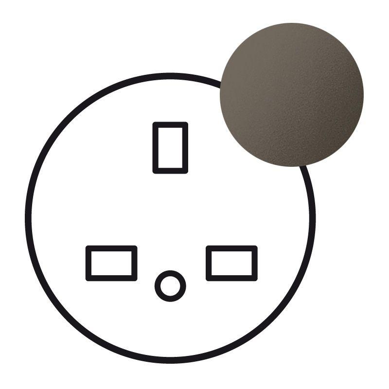 Enjoliveur Céliane - prise 2P+T standard BS - graphite