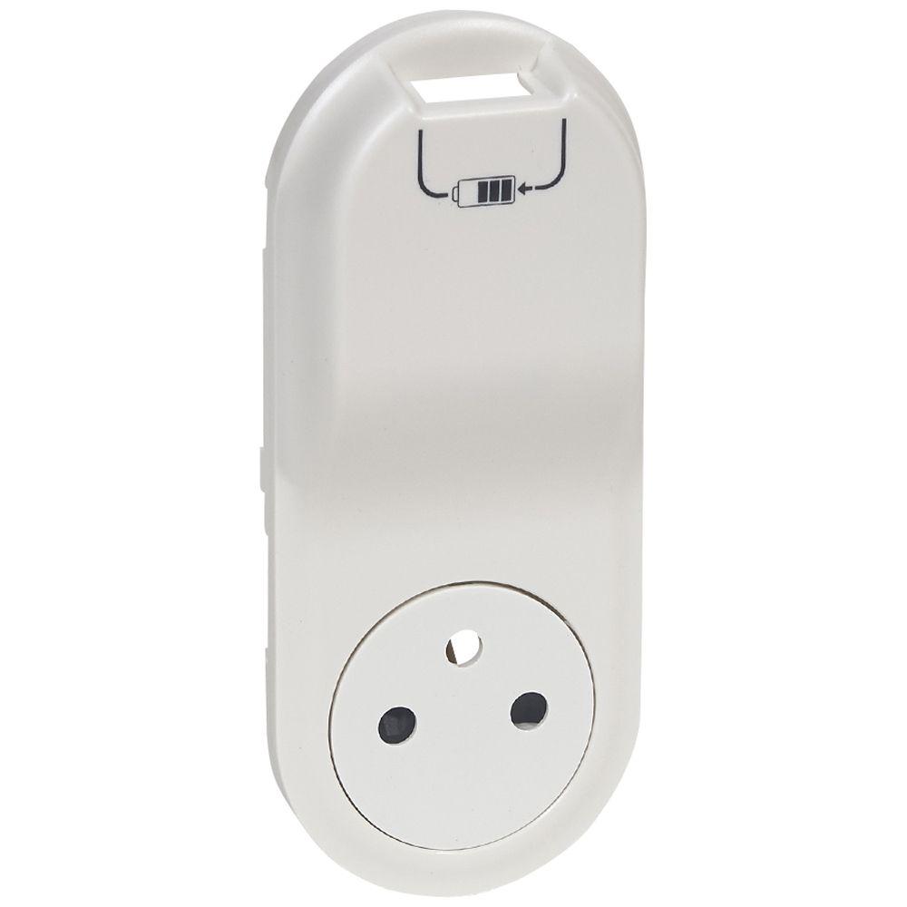Enjoliveur Céliane - prise 2P+T Surface + chargeur USB semi encastré - blanc