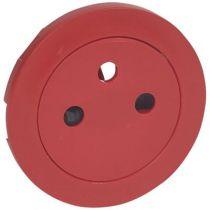 Enjoliveur Céliane - prise 2P+T Surface - rouge pour repérage