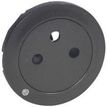 Enjoliveur Céliane - prise 2P+T Surface à voyant - graphite
