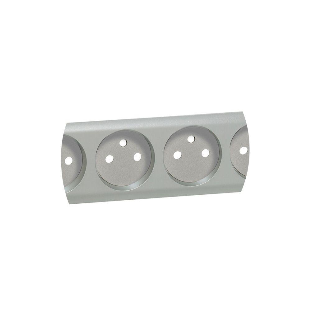 Enjoliveur Céliane - prise 4 x 2P+T standard précablée compacte - titane