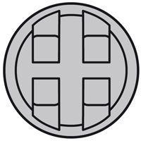 Enjoliveur Céliane - prise quadruple pour réseau Optimum auto - titane