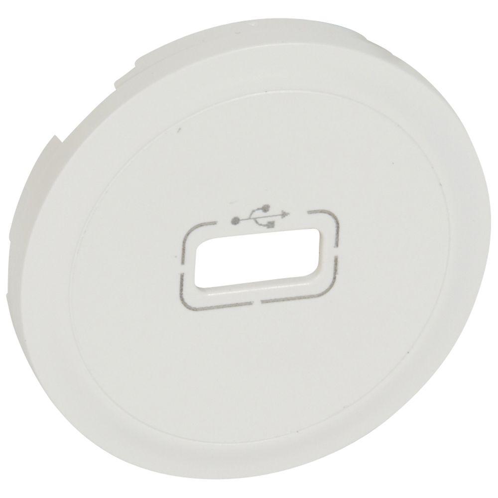 Enjoliveur Céliane - prise USB - blanc