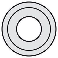 Enjoliveur Céliane - prise XLR femelle - titane