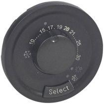 Enjoliveur Céliane - thermostat d\'ambiance - graphite