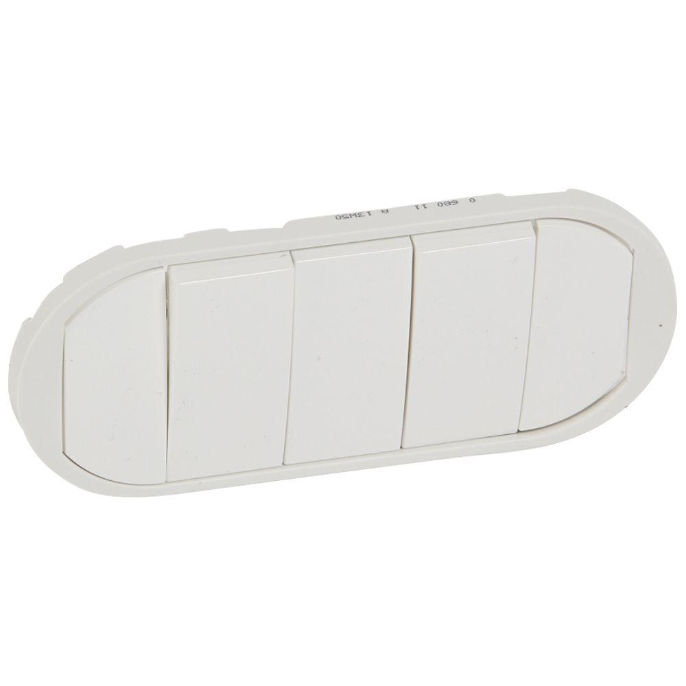 Enjoliveur Céliane - VV / poussoir 5 commades compactes - doigt large blanc