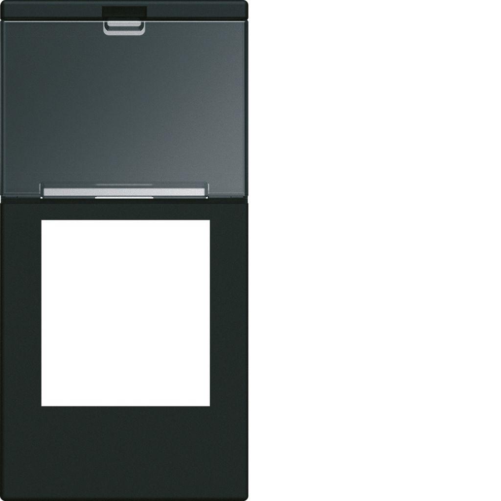 Enjoliveur prise RJ45 gallery avec porte-étiquette 1 module night (WXD205N)