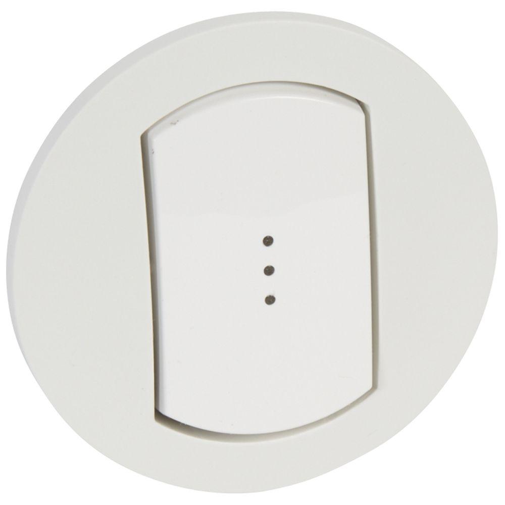 Enjoliveur simple à voyant Céliane - IP 44 - pour réf. 0 670 01/31 - blanc