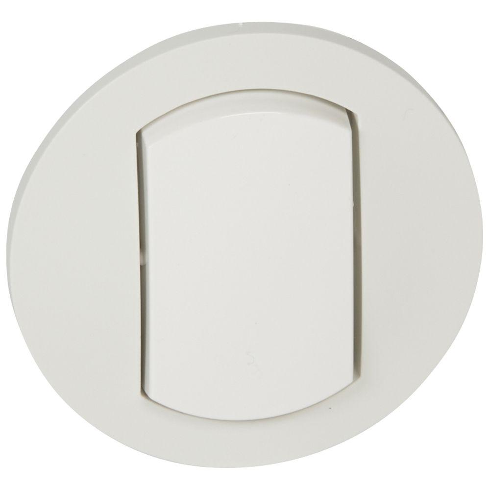 Enjoliveur simple Céliane - IP 44 - pour réf. 0 670 01/31 - blanc