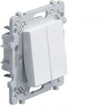 Essensya double interrupteur va-et-vient (WE040)