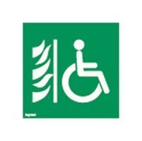 Etiquette ECO de signalisation amovible et recyclable - espace attente sécurisé (062689)