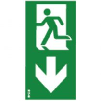 Etiquette verticale Flèche bas (10584)