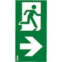 Etiquette verticale Flèche droite (10586)