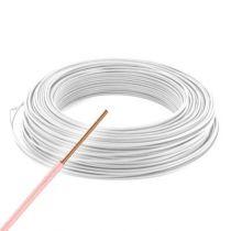 Fil électrique rigide HO7VU 1.5² ivoire - Couronne de 100m