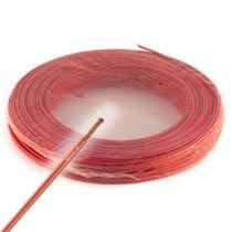 Fil électrique souple HO7VK 10² rouge - Couronne de 100m