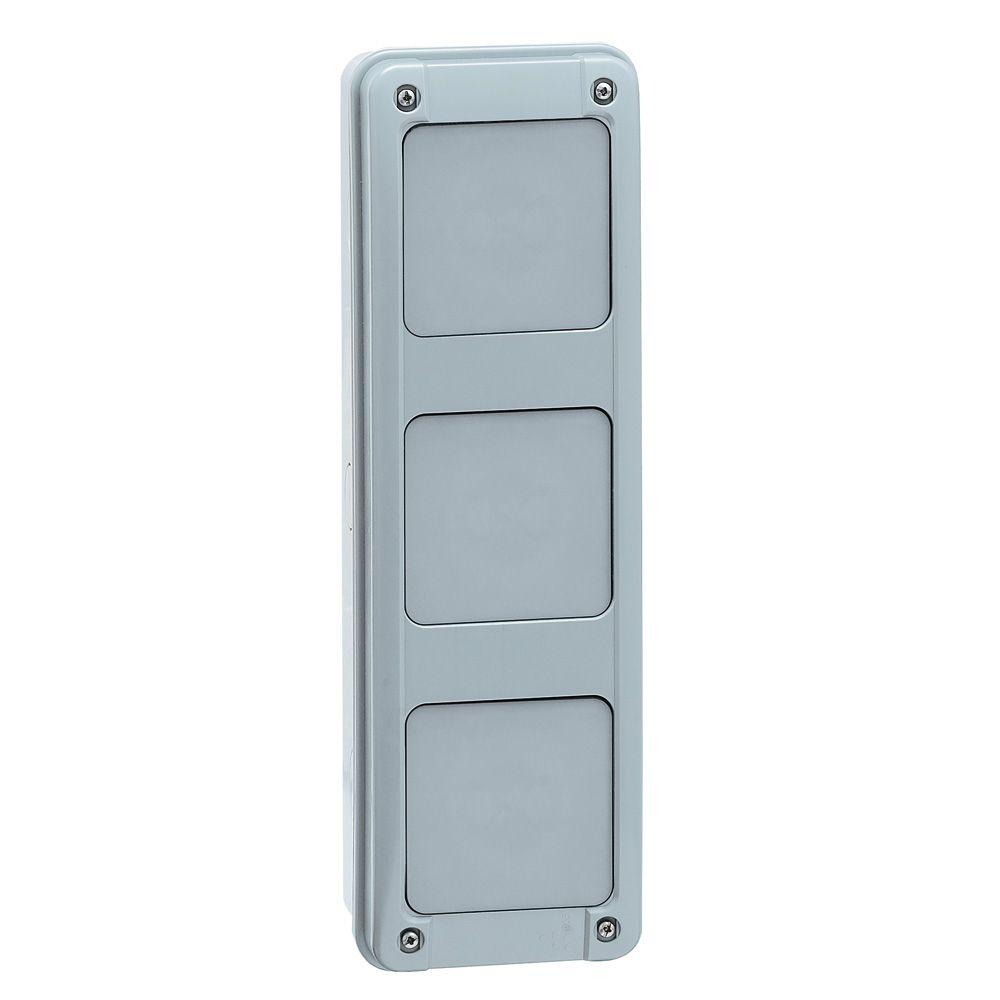 Gaine multifonction pour coffrets Plexo - verticale - 2 rangées